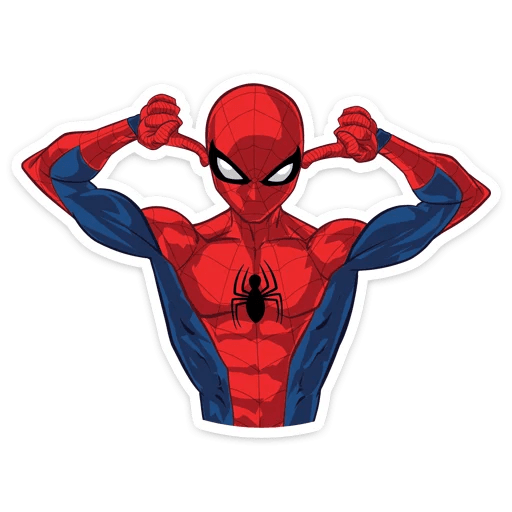 Spider-Man Covering His Ears Sticker