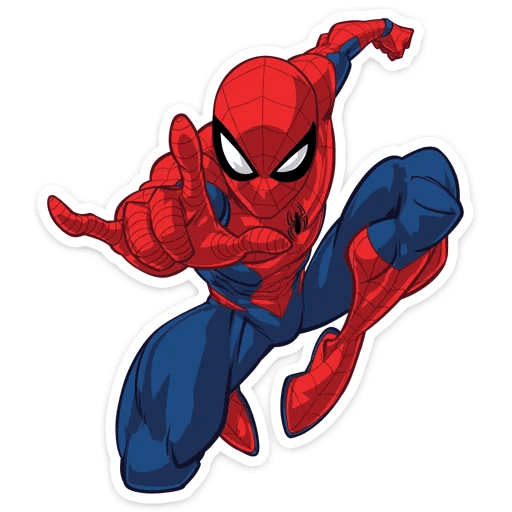 Spider-Man Leap Into Action Sticker