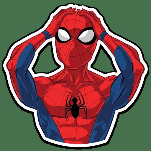 Spider-Man Smacks Head Sticker