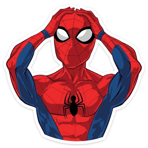 Spider-Man Smacks Head Sticker