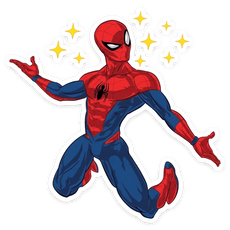 Spider-Man Kawaii Stars Sticker