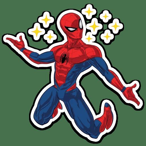 Spider-Man Kawaii Stars Sticker