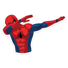 Spider-Man Dab Sticker