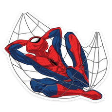 Spider-Man Web Hammock Sticker
