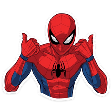 Spider-Man Thumbs Up Sticker