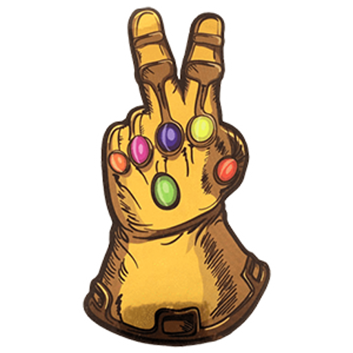 The Infinity Gauntlet Peace Sticker