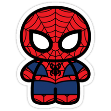Marvel Chibi Spider-Man Sticker