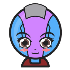 Marvel Chibi Nebula Sticker