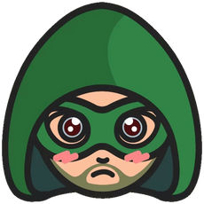 DC Chibi Green Arrow Sticker