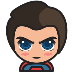 DC Chibi Superman Sticker
