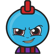 Marvel Chibi Yondu Udonta Sticker