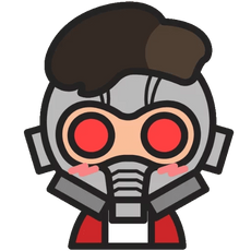 Marvel Chibi Star-Lord Sticker