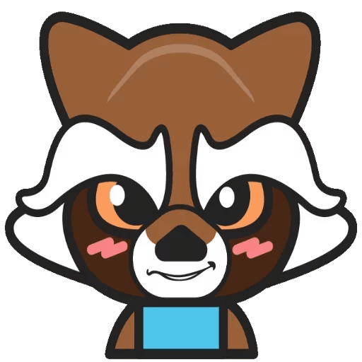 Marvel Chibi Rocket Raccoon Sticker