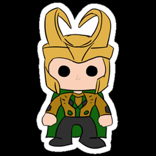 Funko Pop Loki Sticker