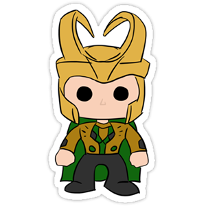 Funko Pop Loki Sticker