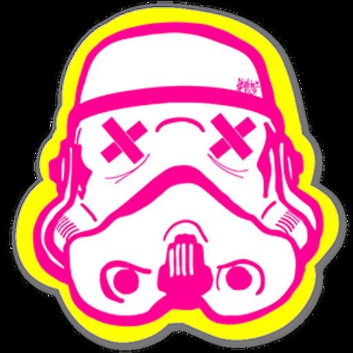 Stormtrooper Helmet Art Sticker