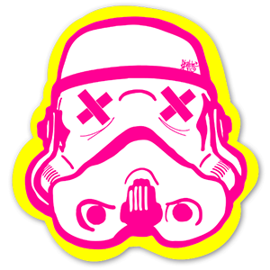 Stormtrooper Helmet Art Sticker