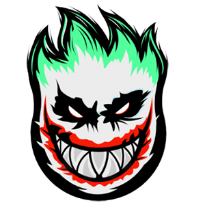 DC Joker Spitfire Logo Sticker