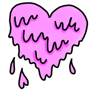 Pink Drip Heart In Love Sticker