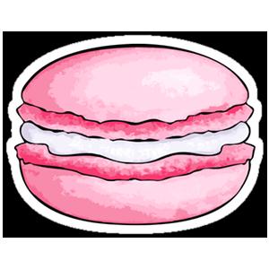 Sticker macaron