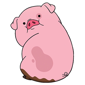 Waddles the pig sticker from Gravity Falls