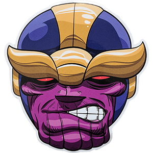 Thanos Cartoon Face Sticker