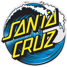 Santa Cruz Ocean Wave Logo Sticker