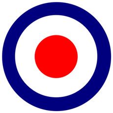 Royal Air Force logo Bullseye Sticker