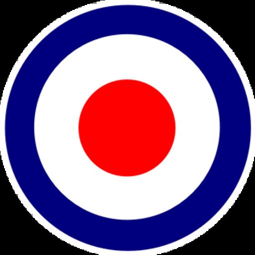Royal Air Force logo Bullseye Sticker