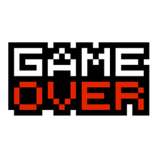 Pixel Game Over Sticker