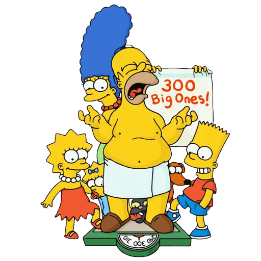 Simpsons Family Weight In