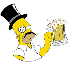 Homer Simpson Gentleman with a Beer