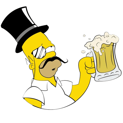 Homer Simpson Gentleman with a Beer