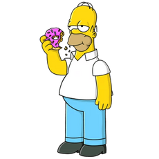 Homer Simpson with a Donut