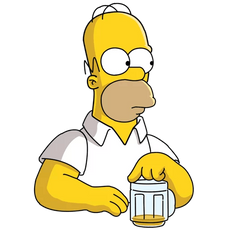 Homer Simpson Beer is Gone