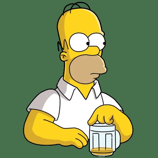 Homer Simpson Beer is Gone