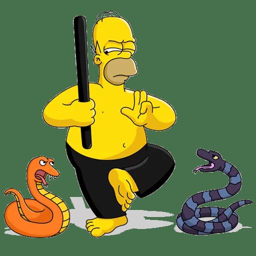 Homer Simpson Snake Charmer