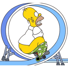 Homer Simpson Mini Bike Loop