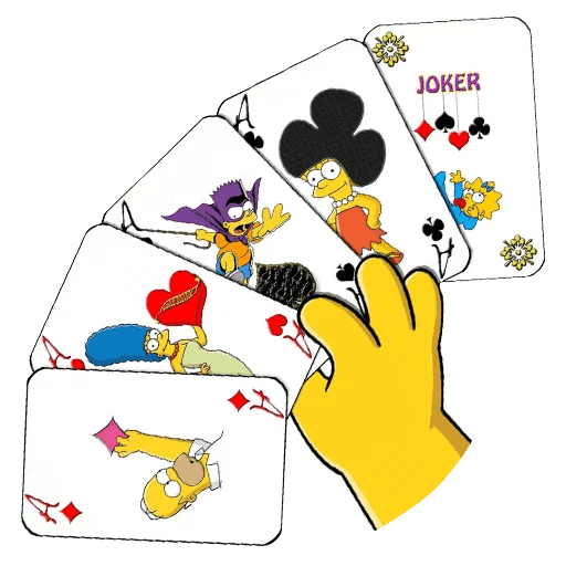 The Simpsons Family Playing Cards Sticker