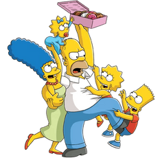 Simpsons Family Donut Sharing Sticker