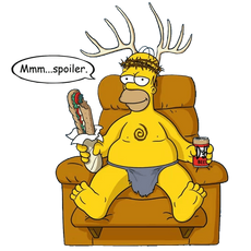 Homer Simpson Spoofs True Detective's Yellow King Sticker