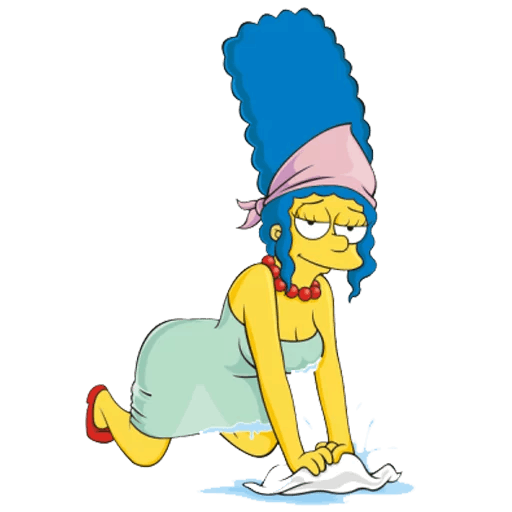 Marge Simpson House Cleaning Sticker