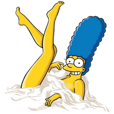 Marge Simpson from Playboy Sticker