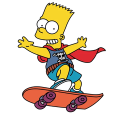 Bart the Daredevil Simpson Skating Sticker