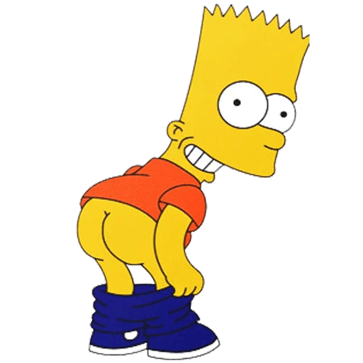 Bart Simpson Pants Down Mooning Sticker
