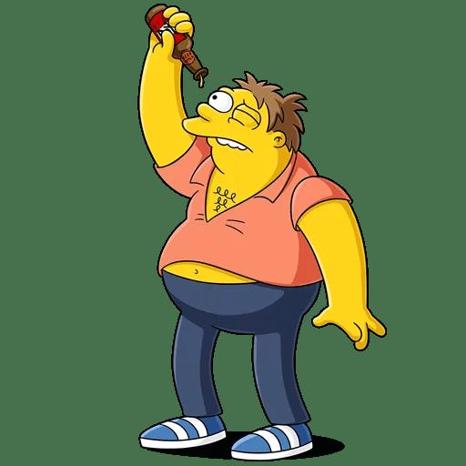 The Simpsons Drunk Barney Gumble Empty BEER Bottle