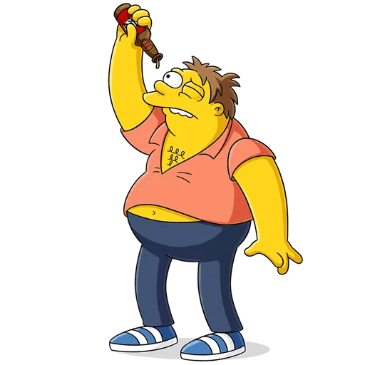 The Simpsons Drunk Barney Gumble Empty BEER Bottle