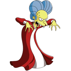 The Simpsons Mr. Burns as Dracula Sticker