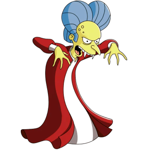 The Simpsons Mr. Burns as Dracula