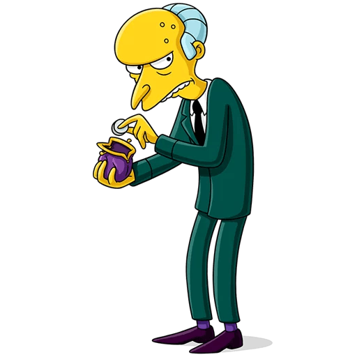 The Simpsons Mr. Burns A Penny Saved Sticker